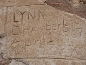 Lynn Chamberlin inscription