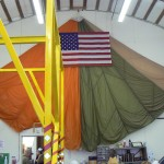 Parachute & Flag